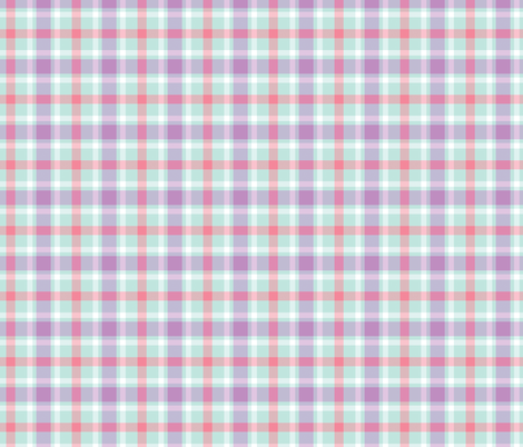 Aqua, Purple, and Pink Plaid fabric by northern_whimsy on Spoonflower - custom fabric