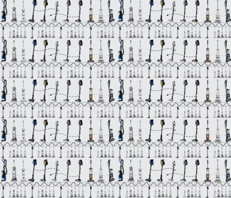 Vacuum Cleaner Stripe Gray fabric by gethugged on Spoonflower - custom fabric