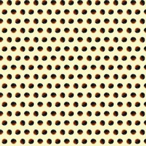 woolly worm dot, cream