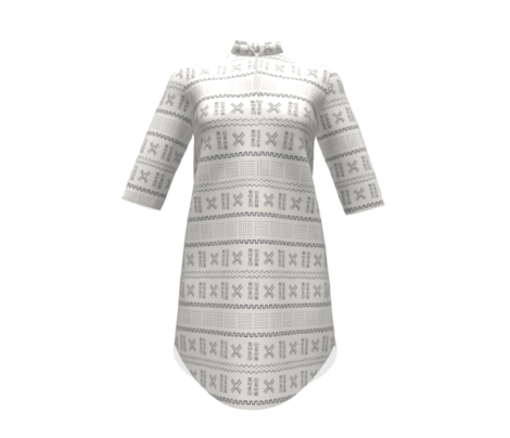Mudcloth-Inspired Tribal Print 1H Ivory