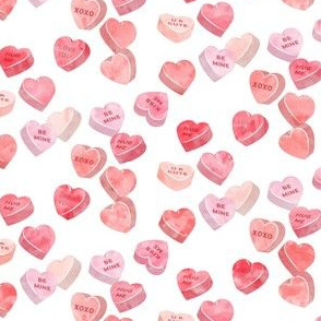 valentines day heart candy - conversation hearts  (red)