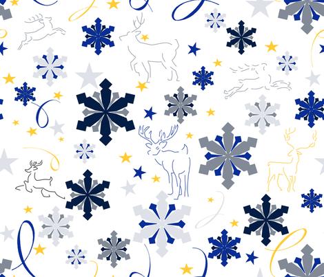 reindeerandsnowflakes fabric by sigs_creations on Spoonflower - custom fabric