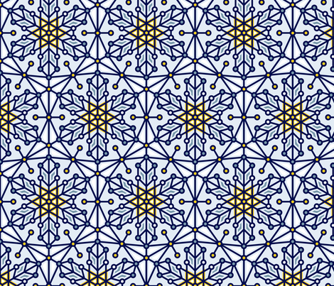 Geometric Winter fabric by markieann on Spoonflower - custom fabric