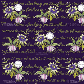 Passionflower Repeat Purple