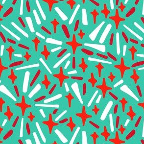 Bright Stars on Green