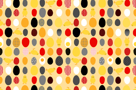 Chicken or the Egg fabric by wickedrefined on Spoonflower - custom fabric