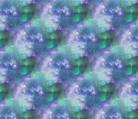 Solar clouds and stars fabric by elizabethmay on Spoonflower - custom fabric
