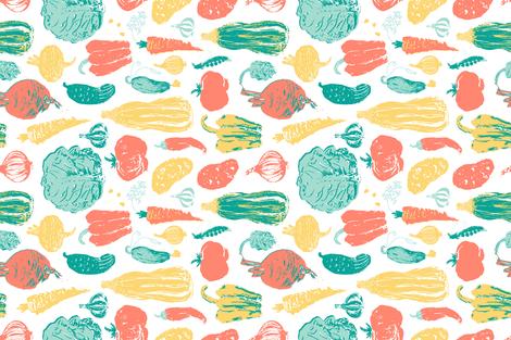 Local Farm Produce Tea Towel fabric by oleynikka on Spoonflower - custom fabric
