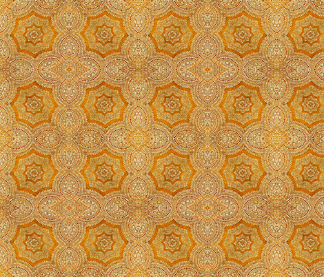 Inlay Stars Gold fabric by amyvail on Spoonflower - custom fabric