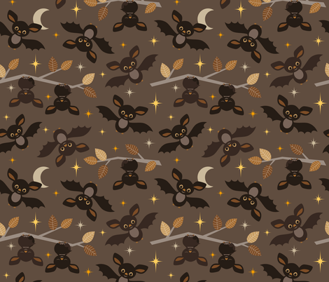 friendly bats fabric by heleenvanbuul on Spoonflower - custom fabric