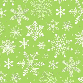 Snowflakes Christmas Holiday Light Green