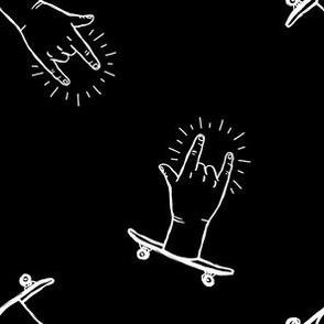 Skateboard Rock - Rock'nRolla hands