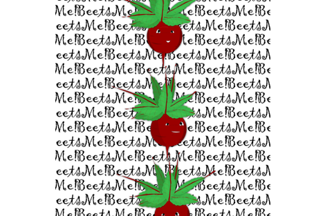 Beets Me! fabric by gracelillydesigns on Spoonflower - custom fabric