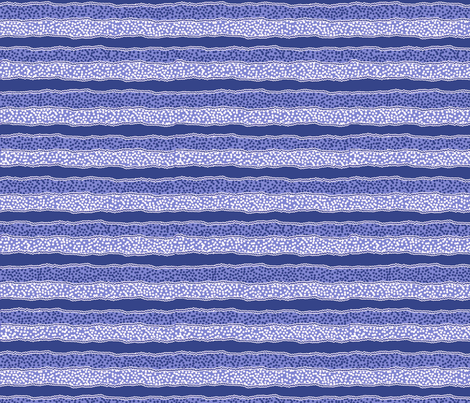 Microdot Stripe Horizontal - Blue fabric by engravogirl on Spoonflower - custom fabric