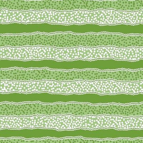 Microdot Stripe Horizontal - Green