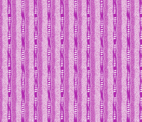 Microdot Stripe 2 - Fuschia fabric by engravogirl on Spoonflower - custom fabric