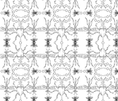 SPIELMANNinsectsLAKE fabric by spieland on Spoonflower - custom fabric