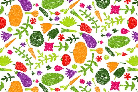 veggie block fabric by analinea on Spoonflower - custom fabric