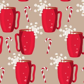 Hot Chocolate Peppermint- Brown