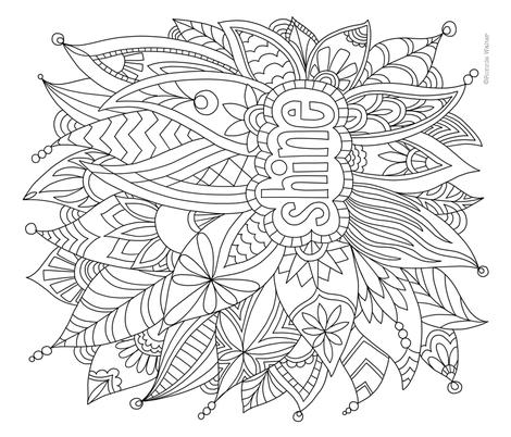 RonnieWalter-Shine-SF fabric by ronniewalter on Spoonflower - custom fabric