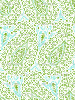Perfect Paisley Green