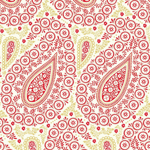 Perfect Paisley Red