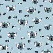 What are you looking at eyeballs and infinity eyelashes pop design pink