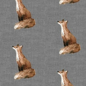 Brooklyn Fox // Charcoal Linen