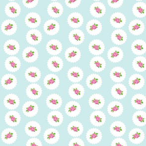 darling rose dots -263  seafoam
