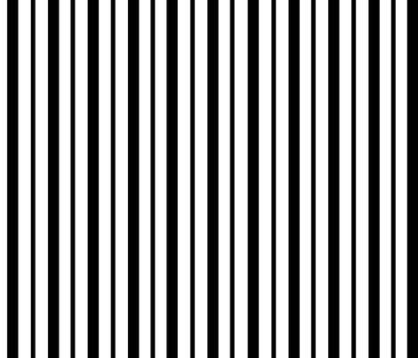 Double_Black_Stripes_white_unbroken_large fabric by blayney-paul on Spoonflower - custom fabric