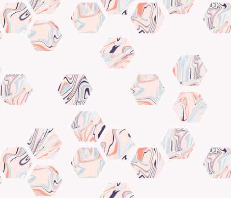 marbled_hexies fabric by enariyoshi on Spoonflower - custom fabric