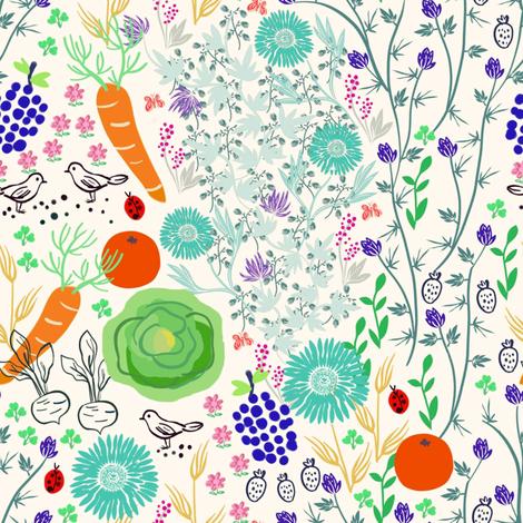Edible Garden fabric by susan_polston on Spoonflower - custom fabric