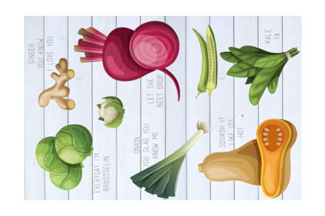 veg fabric by hudsondesigncompany on Spoonflower - custom fabric