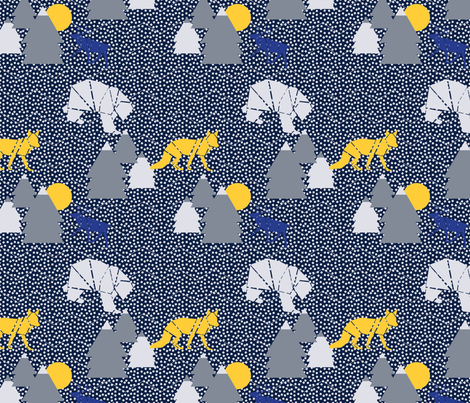 MOD_WINTER_WONDERLAND fabric by yasminah_combary on Spoonflower - custom fabric