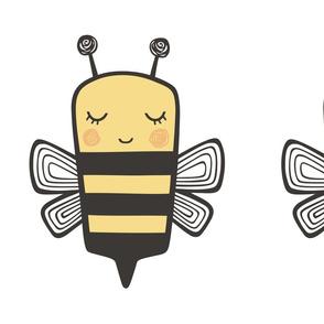 Bees Plush Plushie Softie Cut & Sew