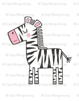 Zebra Plush Plushie Softie Cut & Sew