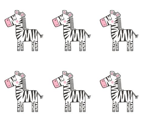 Zebra Plush Plushie Softie Cut & Sew fabric by caja_design on Spoonflower - custom fabric