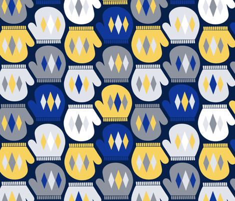 Mod Mittens fabric by willowbirdstudio on Spoonflower - custom fabric