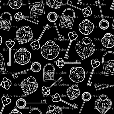 Locks And Keys Black