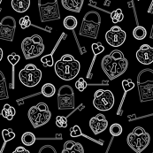 Locks And Keys Black