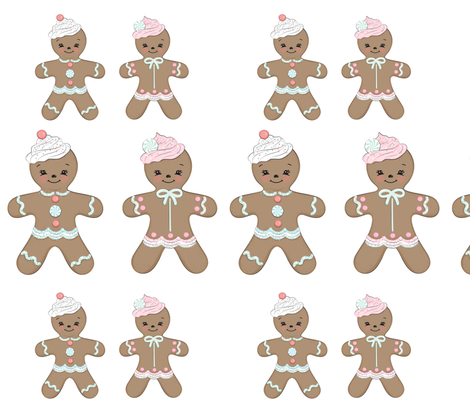 GingerbreadBunting fabric by livesweet on Spoonflower - custom fabric