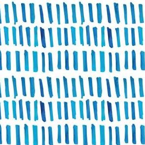 Watercolor Blue Blocks