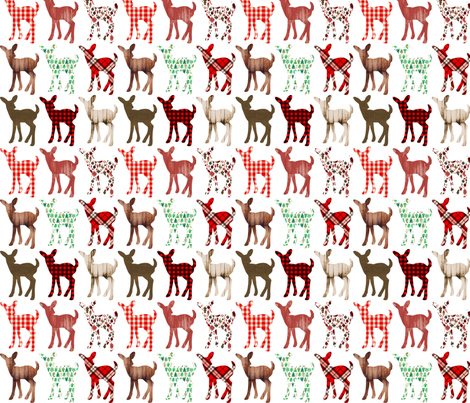 Christmas Fawns Silhouettes fabric by greenmountainfabric on Spoonflower - custom fabric