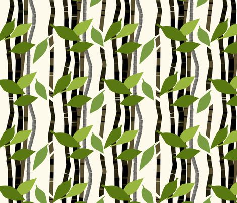 Lehdet fabric by mirjamauno on Spoonflower - custom fabric