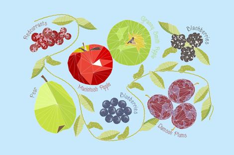 Geodesic Autumn Fruit fabric by emmie_norfolk on Spoonflower - custom fabric