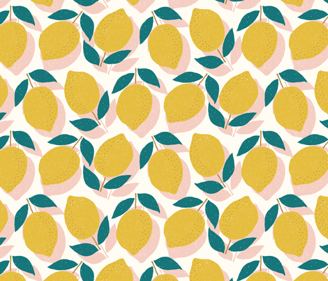 Lemons fabric by littlefoxhill on Spoonflower - custom fabric