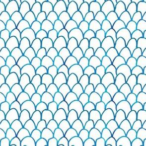 Watercolor Scallop/Fish Scale Pattern