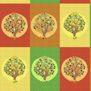 Four Seasons Fruit Trees Checkerboard