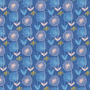 bee garden blue