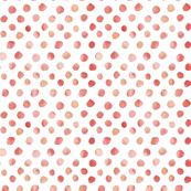 Watercolor Dots - Peach